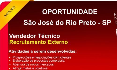 Vendedor Tecnico São Jose do Rio Preto
